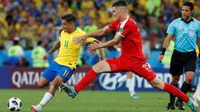 El gran pase de Coutinho para el gol de Paulinho ante Serbia