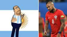 ¿No lo conoce? Hincha argentino le respondió a Arturo Vidal y lo minimizó