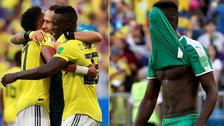 El festejo de Colombia ante el lamento de Senegal en Rusia 2018