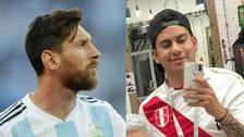 Barbero peruano le cambió el look a Messi previo al partido ante Francia