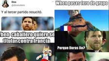 Los memes del Argentina vs Francia por octavos de final en Rusia 2018