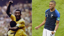 Mbappé igualó un récord de Pelé en la historia de los Mundiales