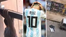 Hincha arrojó su televisor por el balcón tras la eliminación de Argentina