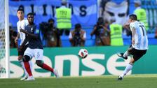 La eufórica narración tras el golazo de Ángel Di María ante Francia