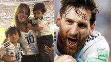 Messi se reencontró con Antonela y sus hijos previo al duelo ante Francia
