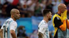 El llanto de los jugadores argentinos tras quedar fuera de Rusia 2018