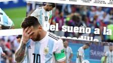 Así reaccionó la prensa argentina tras la eliminación de la Albiceleste