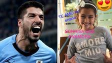 Luis Suárez publicó un emotivo video de su hija cantando el himno de Uruguay
