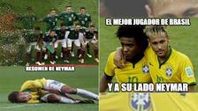 Brasil y Neymar no se salvaron de los memes tras el triunfo ante México