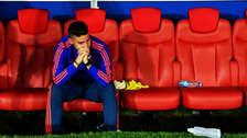 Las lágrimas de James Rodríguez tras la eliminación de Colombia