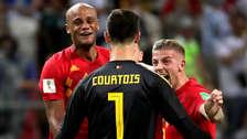 Así fue el festejo de los jugadores de Bélgica tras el triunfo ante Brasil