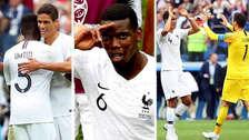 Así fue el festejo de los jugadores franceses tras el triunfo ante Uruguay