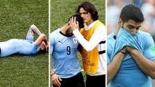 La tristeza de los jugadores uruguayos tras ser eliminados de Rusia 2018