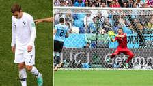 Griezmann no celebró su gol ante Uruguay tras blooper de Muslera