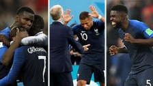 La alegría de los franceses por clasificar a la final del Mundial Rusia 2018