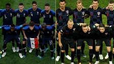 El podio de los jugadores de mayor valor económico de Francia y Croacia