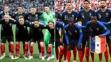 Así llega la Selección de Francia y Croacia a la final de Rusia 2018