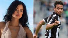 Cristian Benavente y su curiosa reacción al desfilar con Miss Bélgica
