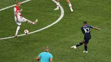 ¡El mejor! Kylian Mbappé anotó un golazo desde fuera del área ante Croacia