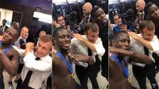 Rusia 2018: presidente de Francia celebró con los jugadores haciendo un 'Dab'
