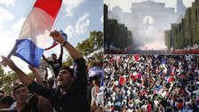 Los festejos en París tras el título de Francia en el Mundial Rusia 2018