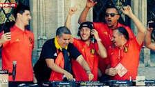 Eden Hazard fue el DJ en festejos de Bélgica tras el Mundial
