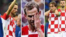 Los rostros de tristeza de los jugadores de Croacia tras perder en la final
