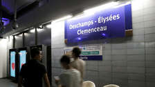 El metro de París le rindió homenaje a los campeones del mundo