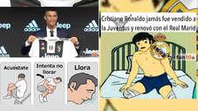 Cristiano Ronaldo en la mira de los memes tras su presentación en la Juventus