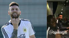 Jugadores de Francia se acordaron de Messi en uno de sus cánticos de celebración