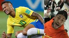 Neymar se ríe de sí mismo por sus simulaciones con un viral