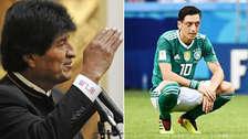 Evo Morales apoyó a Özil con un mensaje por un fútbol sin racismo