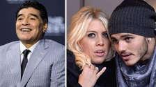 Diego Maradona es vinculado con Wanda Nara, la novia de Mauro Icardi