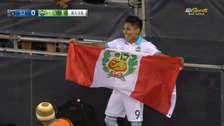 Ruidíaz anotó su primer gol con Seattle Sounders y festejó con bandera peruana