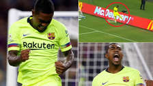 Barcelona: Malcom y su efusivo festejo ante la Roma tras su primer gol