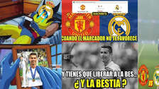 Cristiano Ronaldo protagonizó los memes de la caída del Real Madrid ante el United