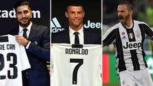 Efecto CR7: los 7 fichajes que ha hecho la Juventus para esta temporada