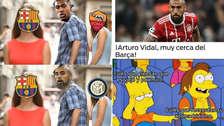 Arturo Vidal es víctima de los memes tras su posible fichaje a Barcelona