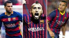 Con Arturo Vidal: los 15 últimos cracks sudamericanos que jugaron en Barcelona