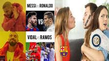 Arturo Vidal fichó por Barcelona y está en la mira de los memes