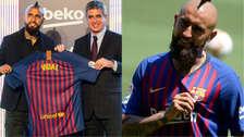 20 fotos de la presentación de Arturo Vidal como jugador de Barcelona