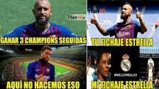 Los mejores memes por la presentación de Arturo Vidal en Barcelona