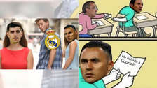 Thibaut Courtois y Keylor Navas protagonizan los memes de Real Madrid
