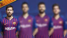 Lionel Messi y los capitanes de Barcelona para la temporada 2018-19