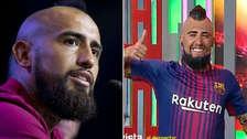 Imitación de Arturo Vidal en Barcelona genera la indignación en Chile