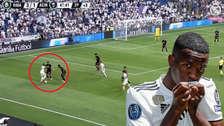 Vinicius se lució con una huacha ante Milan que enamoró al hincha de Real Madrid