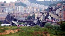 Las imágenes que dejó el derrumbe de un puente en Génova