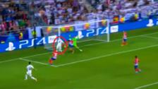 El gran cabezazo de Karim Benzema que venció la portería de Oblak