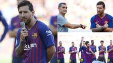 Las primeras palabras de Lionel Messi como capitán de Barcelona