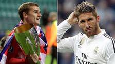 Antoine Griezmann se burló de Sergio Ramos tras la final de la Supercopa de Europa